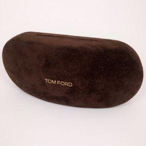 Tom Ford Eye Sun Glasses Case Brown Hardshell GUC
